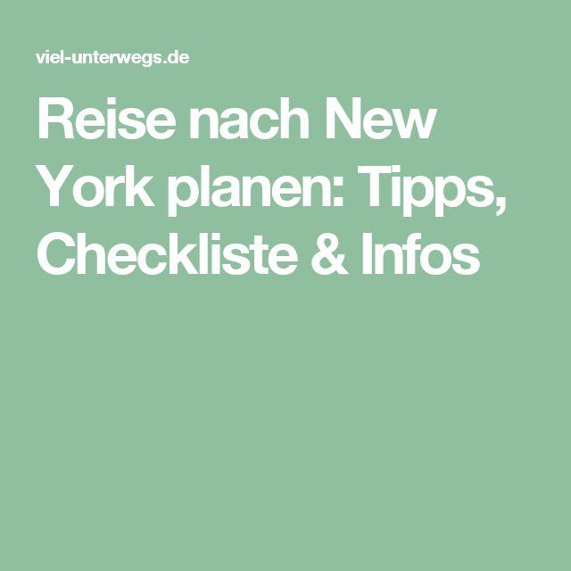 Reise nach New York planen: Tipps, Checkliste & Infos