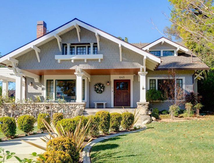 a 1908 craftsman with gorgeous woodwork in pasadena craftsman exteriorcraftsman bungalowscraftsman homescraftsman
