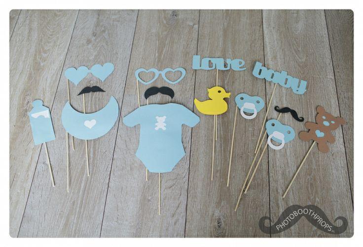 It`s a baby boy!   Bestel hier je photo booth props   photobooth props fotohokje attributen