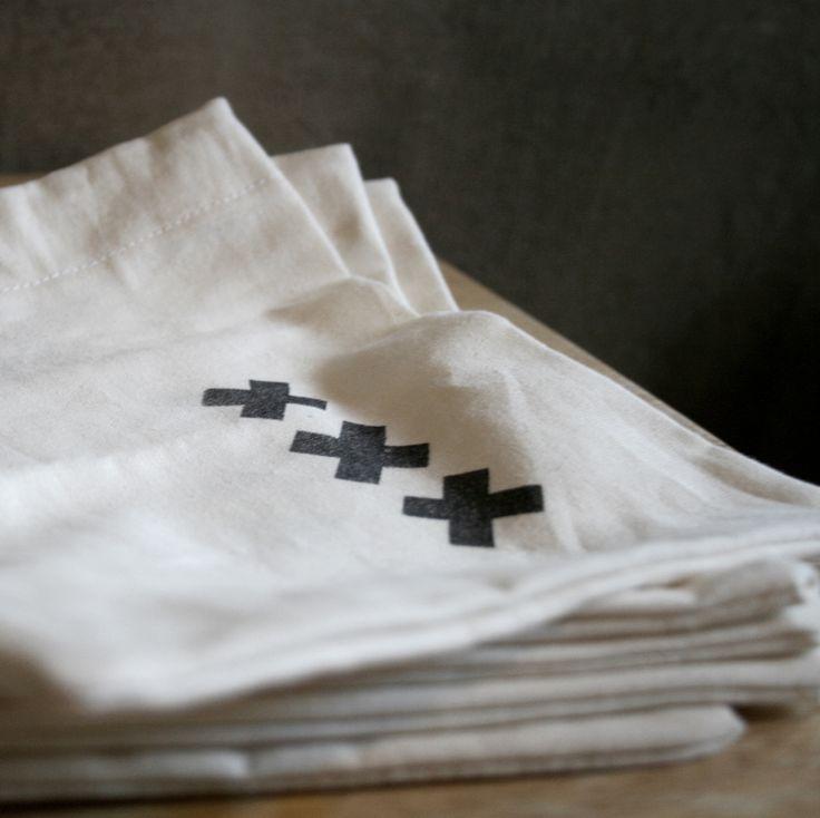 handamade cotton pouches - set of 5