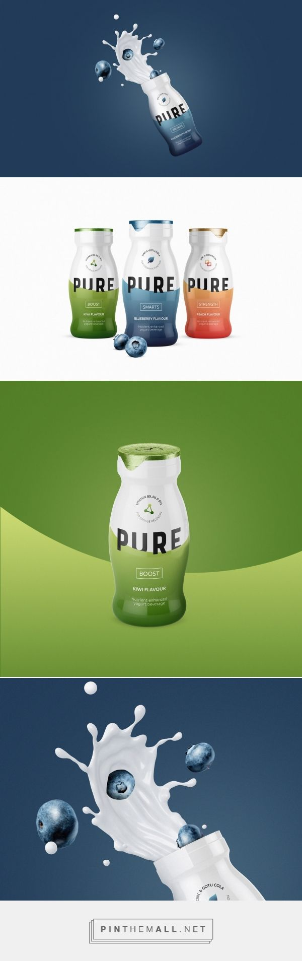 Pure Yoghurt Beverage - Packaging of the World - Creative Package Design Gallery - http://www.packagingoftheworld.com/2017/05/pure-yoghurt-beverage.html