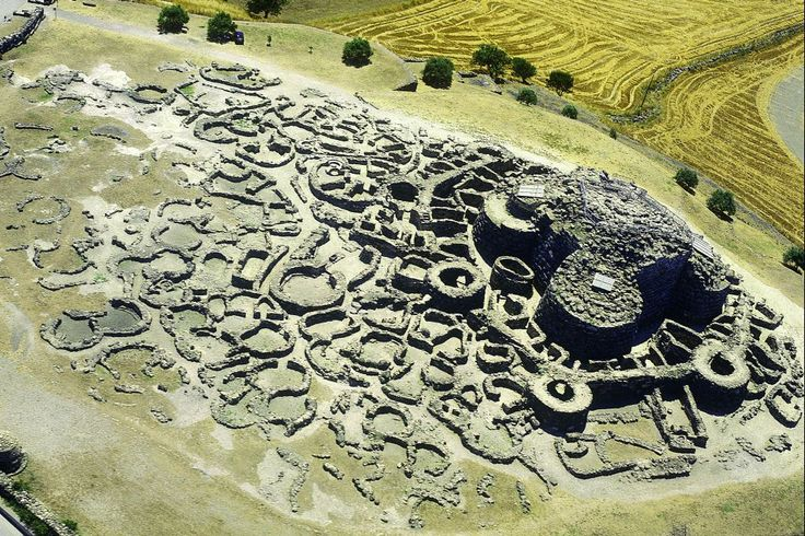 Nuraghe di Baromini: ancient Italian settlement in Sardinia, discovered under 30 meters of mud.