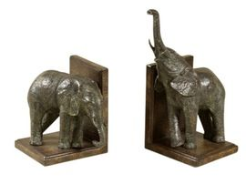 Elephant Bookends  Traditional, Transitional, Resin  Composite, Bookend by…