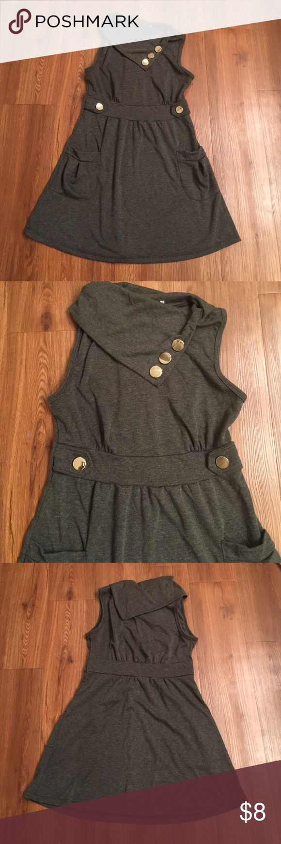 Fold over collar dress Size large. In great condition. Purchased from Body Central. Body Central Dresses