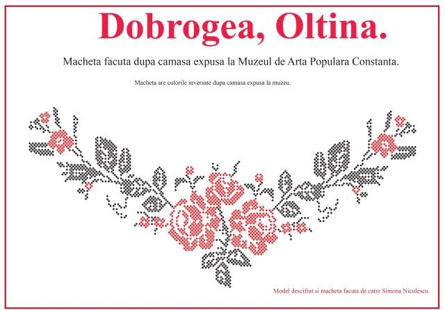 Camasa cu platca din Oltina, Dobrogea. Model descifrat si desenat de catre Simona Niculescu