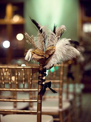 feathers into the wedding ...