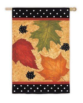 Falling Leaves House Flag by Evergreen. $19.90. Flags are the greeting card of your home! Add a piece of colorful and welcoming décor to your outdoor setting with one of these flags. Made of durable materials, the vibrant colors in this flag will last for years to come.. Save 29%!