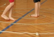Kindergartenbeginn im Turnsaal...                              …