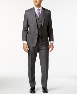 Lauren Ralph Lauren Grey Sharkskin Big and Tall Suit Separates  | macys.com
