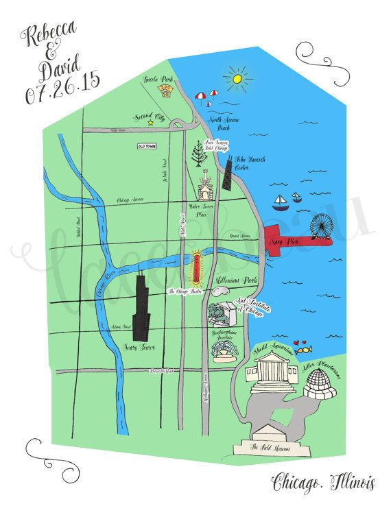 Custom Hand Drawn Maps for all occasions! Perfect for weddings, directions cards, invitations, Bar Mitvahs and Bat Mitvahs, Baptisms, Galas, Special Occasions, Chicago Map, keepsakes, gifts, personalized in any style or theme, by LaceAndBeau
