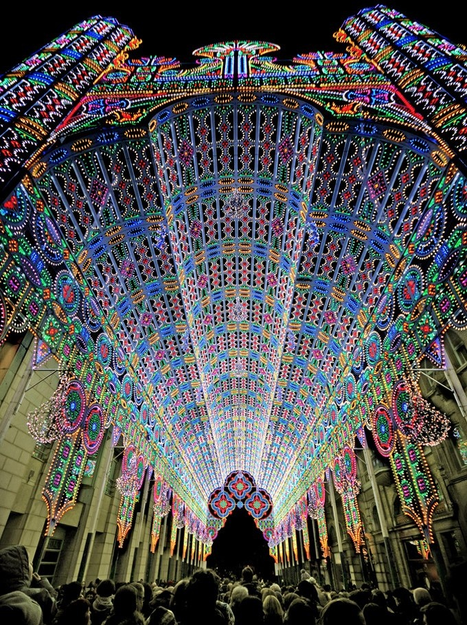 LED cathedral at the Light Festival in Ghent, Belgium. — with Cheers Decoración E Interiorismo, Mercedes Sandin, Laurence Giroud, Rm Bautista, Rizza Marrie Collen Channelen and Juan Carlos Vázquez Kuky.
