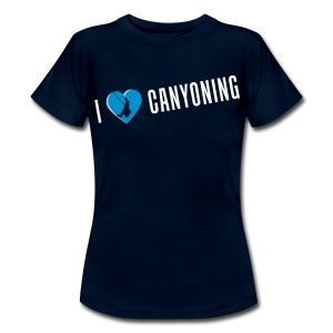 I love canyoning t-shirt - girl - Vrouwen T-shirt