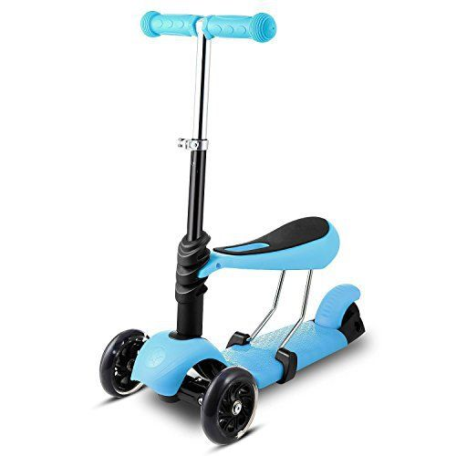>>>Description: The Kids Scooter is for kids whose age is 3 years old and older. 3-wheel design gives the kids kick scooter both added stability and safety. The toddler scooter with Removable Seat and adjustable Handlebar. Buy 1 is equal to 3. It is the best deluxe gifts for your baby... more details available at https://perfect-gifts.bestselleroutlets.com/gifts-for-teens/skates-skateboards-scooters/product-review-for-kids-3-wheel-mini-kick-scooter-3-in-1-toddler-sco