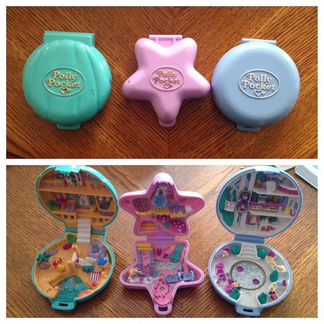 Who wants to guess the decibel of my scream when I discovered these? Oh the nostalgia. Now where's my treasure trolls and tamagotchi? #pollypocket #vintage #throwback #90skids #childhoodunplugged