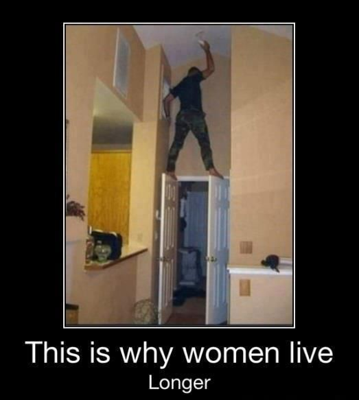 .: Ladder, The Doors, Funny Pictures, Women Living, Funny Stuff, So True, Living Longer, True Stories, Demotivational Poster