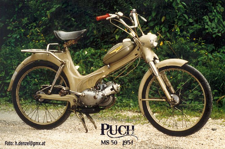 Puch MS 50 1954 | Benzinradl'n | Pinterest | Puch moped