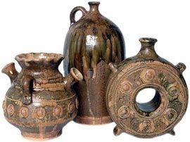 Старинная скопинская керамическая посуда