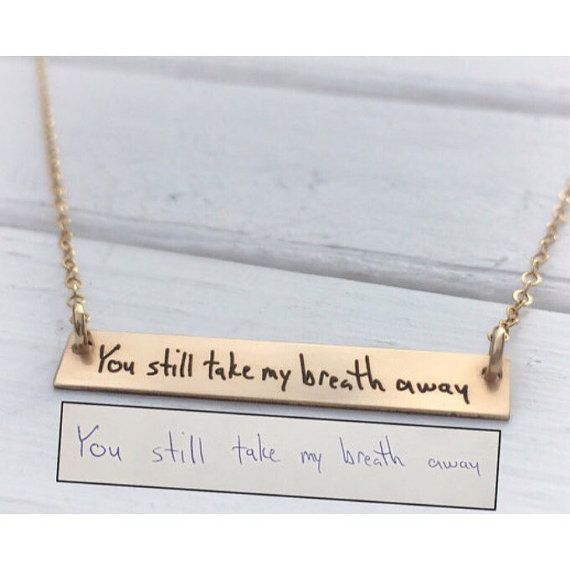 Hey, I found this really awesome Etsy listing at https://www.etsy.com/listing/255246806/handwritten-jewelry-horizontal-gold-bar