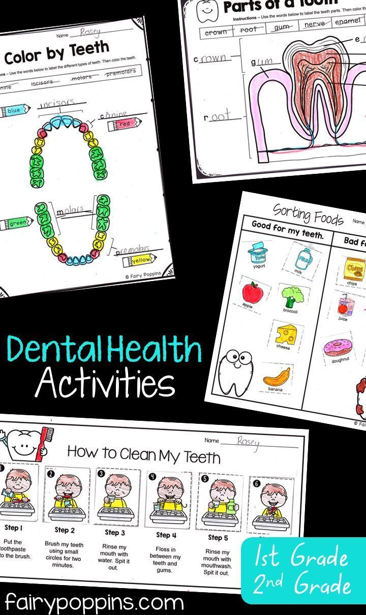 Dental Activities for Kids   Fairy Poppins   Kids dental health [ 1210 x 720 Pixel ]