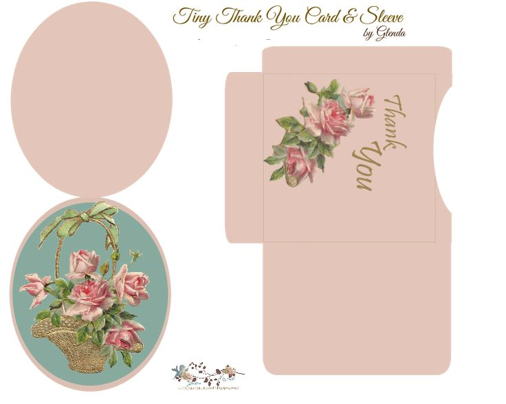 Cute Thank You note card & sleeve Free-download