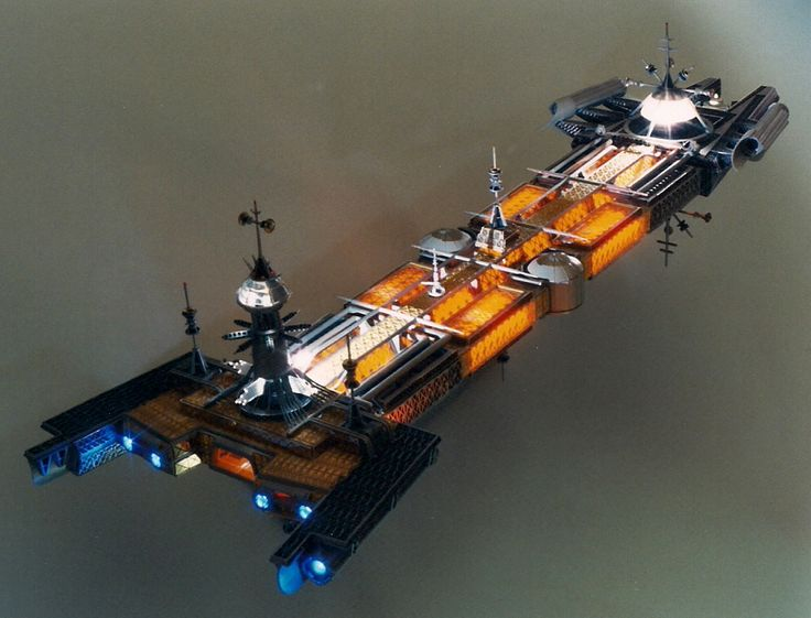 """The Cygnus from the 1979 movie """"The Black Hole"""". The movie is kind of corny, but this ship is one of the most elegant and original ever created for a sci-fi film."""