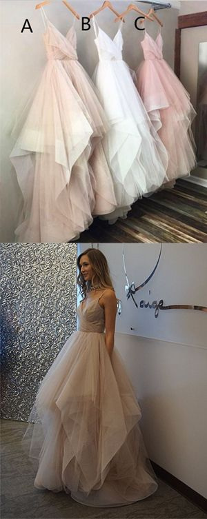 prom dress,Spaghetti Straps Sweetheart Prom Dress,Asymmetry Tulle Prom Dresses,Unique Long Prom Gown,Evening Dress,Simple Cheap Prom Dress,Plus Size Prom Gowns,Party Dresses,prom dresses