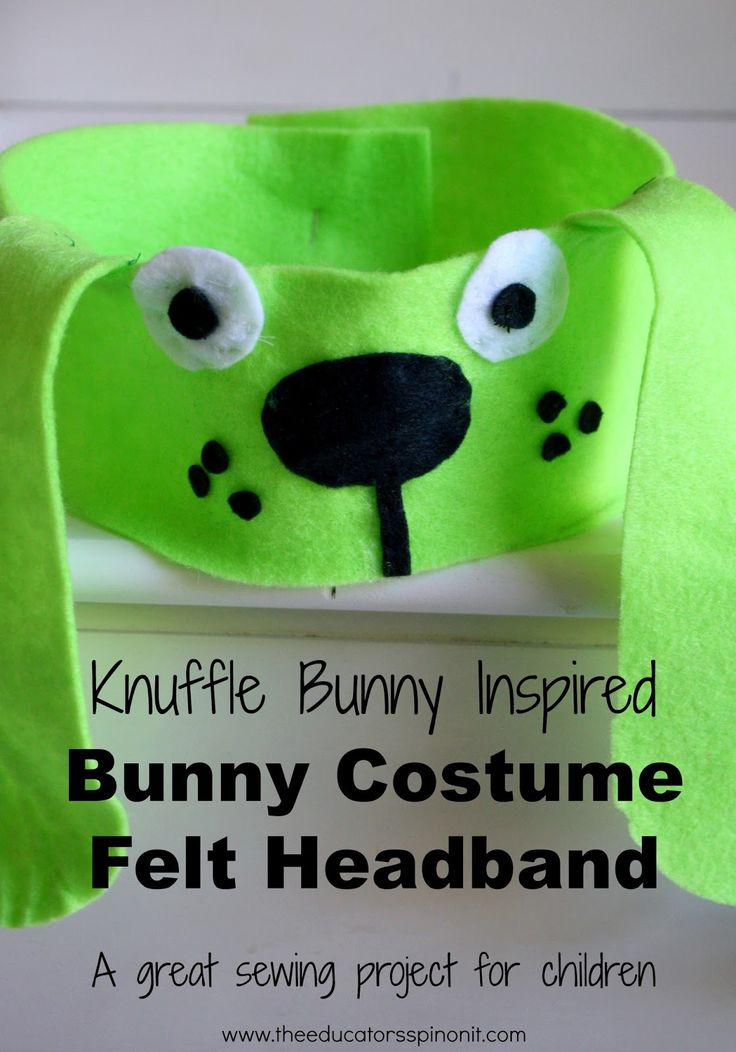 Knuffle Bunny Inspired Bunny Costume by The Educators' Spin On It featured at the Virtual Book Club for Kids