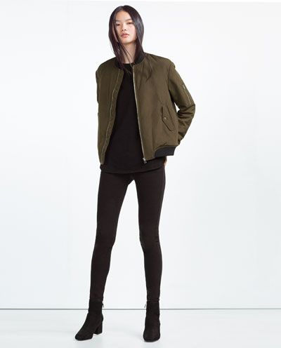 Image 1 of NYLON BOMBER JACKET from Zara