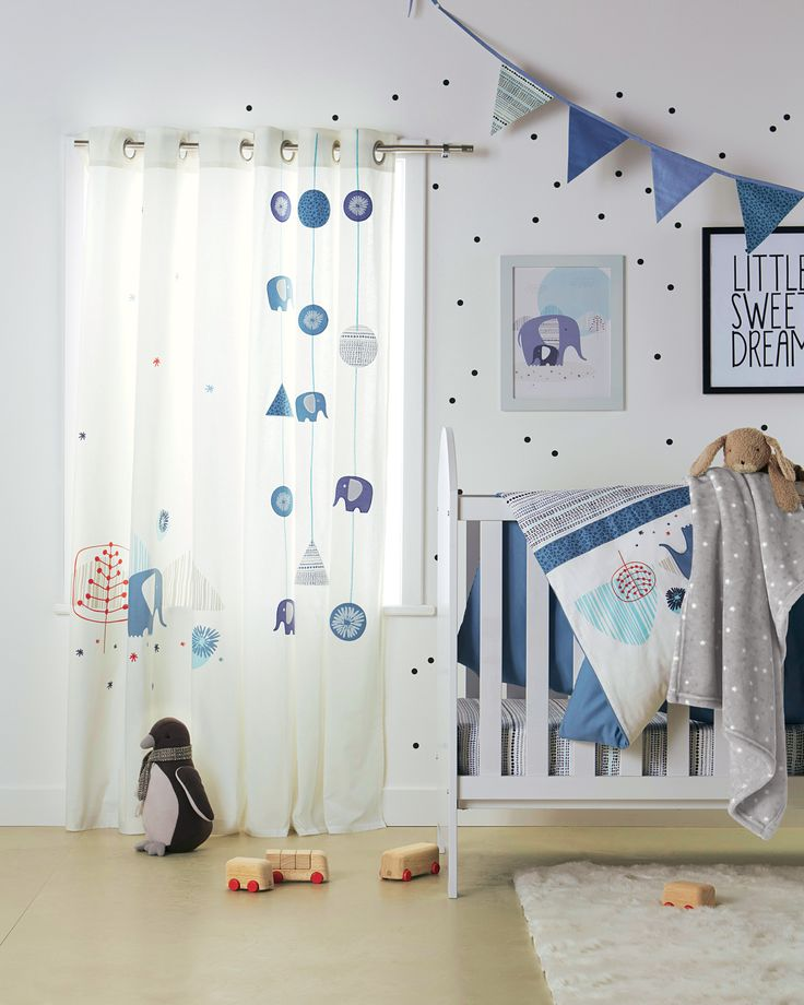 rideaux blue safari chambre b b babyspace collection automne hiver. Black Bedroom Furniture Sets. Home Design Ideas