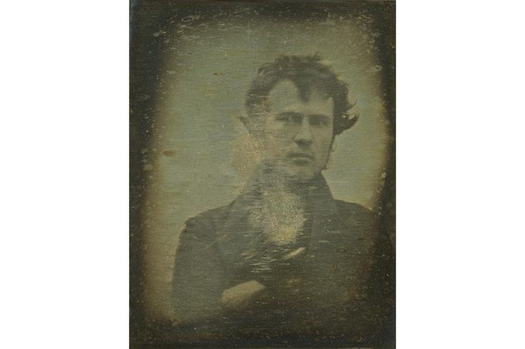 "The worlds first ""selfie"". Robert Cornelius (1839)"