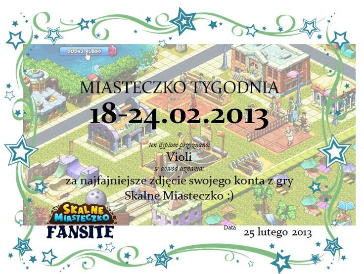 Zwycięzca – Miasteczko Tygodnia 18-24.02.2013 http://wp.me/p2QDAI-fl #skalnemiasteczko