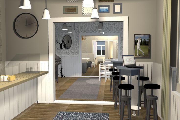 Ravintola/Restaurant 3D-project