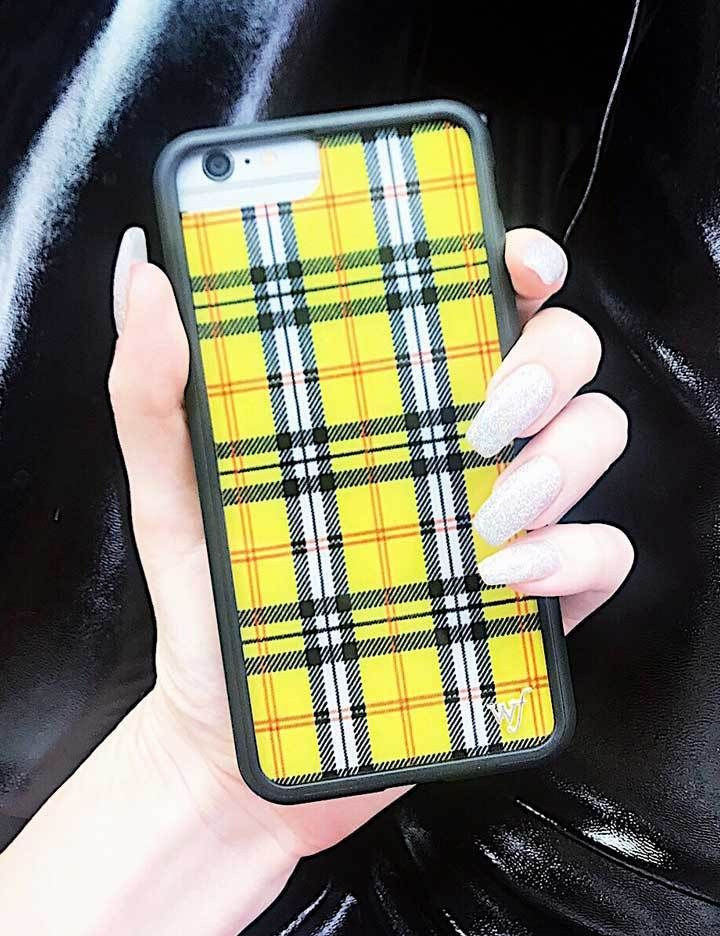brand new 63a3c 895cd Yellow Plaid iPhone 6/7/8 Case in 2019 | Iphone case | Phone cases ...
