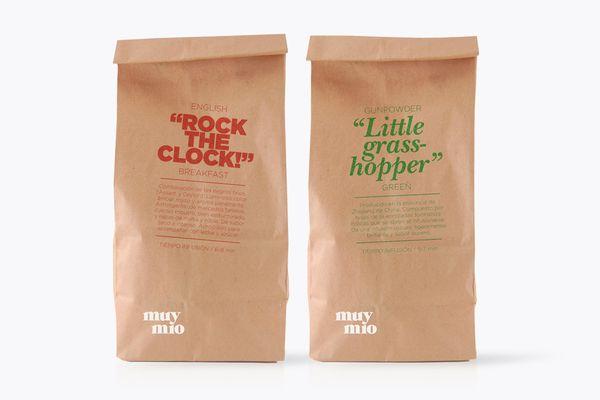 Muy mio tea packaging design by espluga+associates