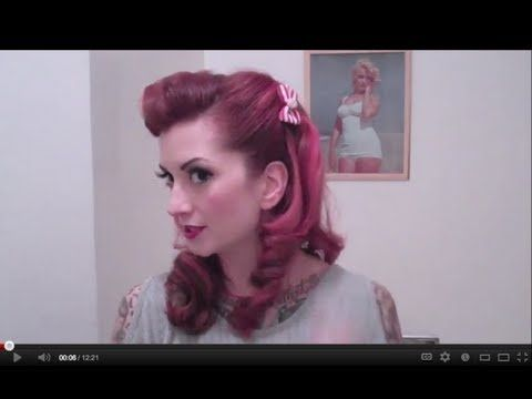 Faux Victory Rolls Vintage Hair Tutorial by CHERRY DOLLFACE