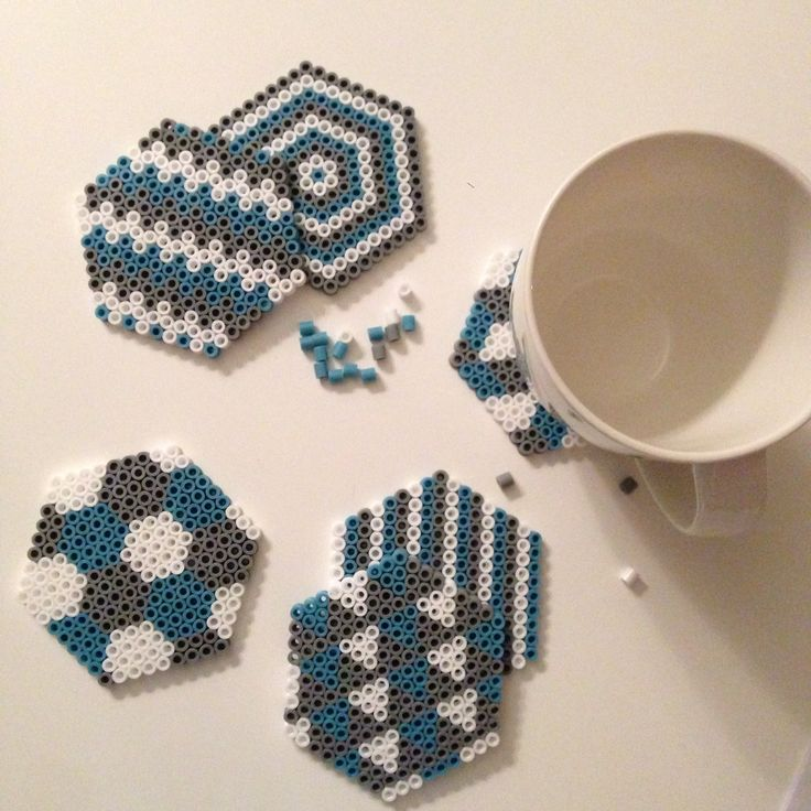 Diy hama coasters