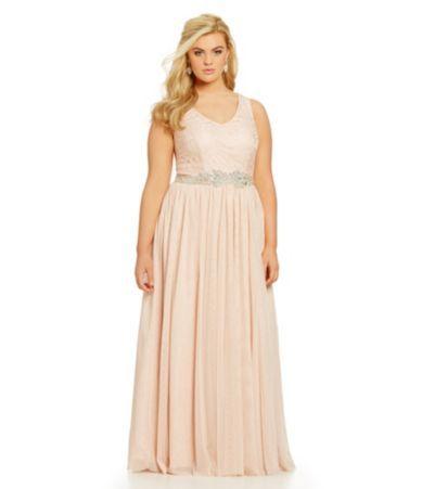 Prom Dress Jodi Kristopher Plus Lace Bodice Glitter Ball Gown