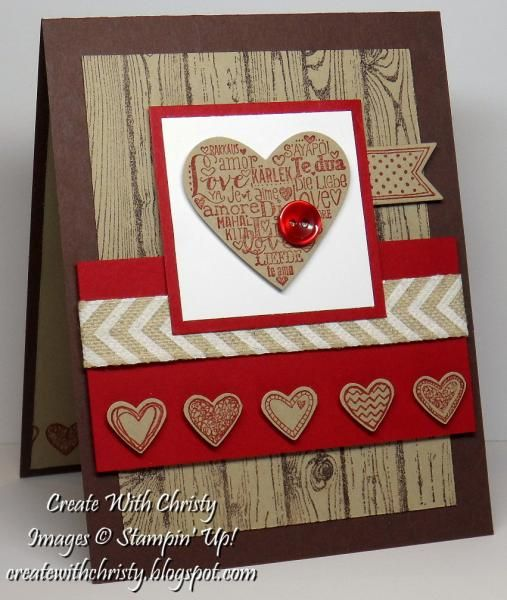 Masculine Valentine's Day Card by StampinChristy - Cards and Paper Crafts at Splitcoaststampers