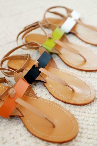 Love the colours of summer www.jamjam.com.au #sandals #leathersandals #flatshoes #ladiesshoes #womensshoes