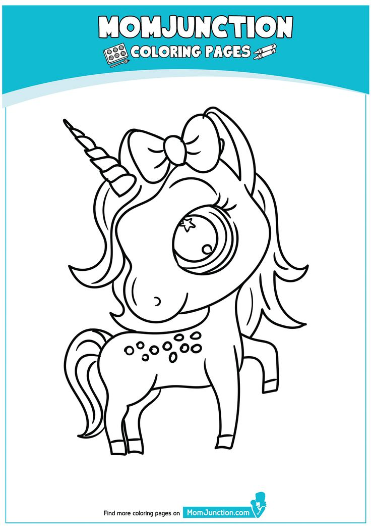 Beautiful Unicorn Head Coloring Page   Coloring pages, Mom ...