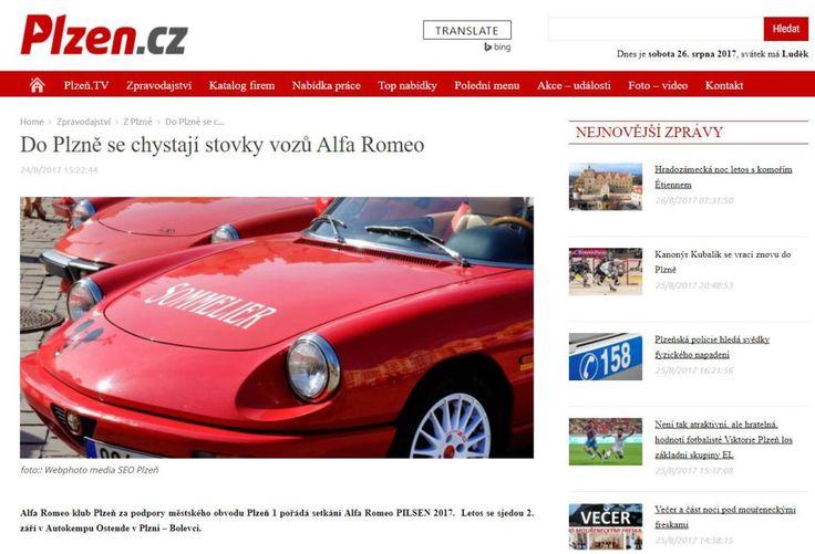 Do Plzně se DNES chystají stovky vozů Alfa Romeo
