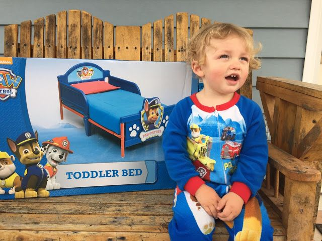 Transitioning Avery To A Big Boy Bed Paw Patrol Toddler