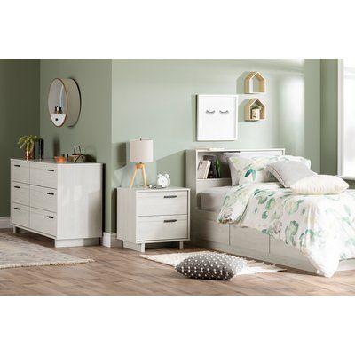 South Shore Fynn 6 Drawer Double Dresser Oak Dresser 2 Drawer