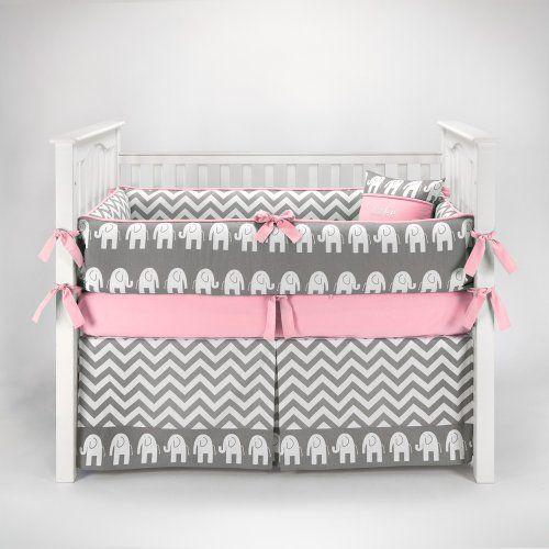 Elephant Chevron Zig Zag Gray & Pink Baby Bedding - 5pc Crib Set by Sofia Bedding Sofia Bedding http://www.amazon.com/dp/B00IZSPCOS/ref=cm_sw_r_pi_dp_xux5tb16CW2BX