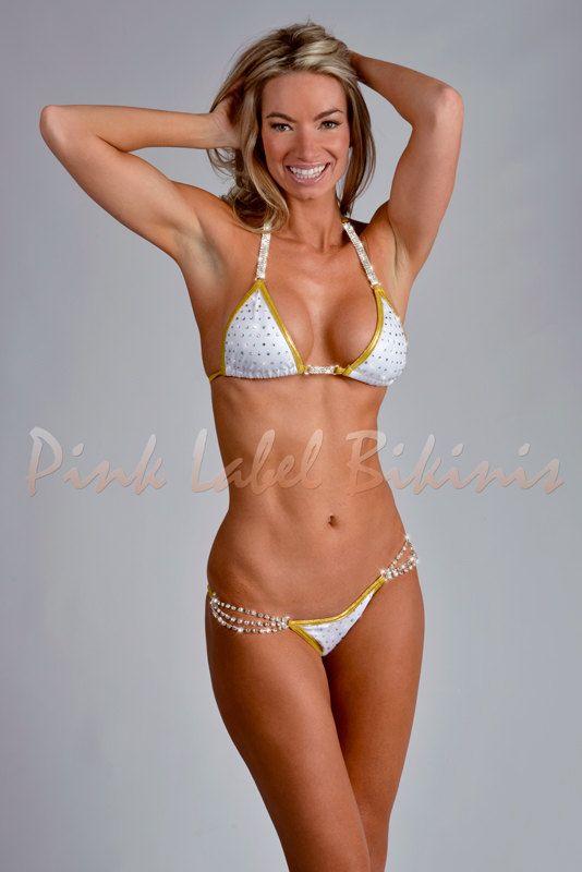 Pamela white gold metallic pvc bikini lisa marie fernandez