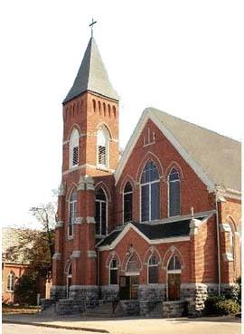 "The church where we'll say ""I do!"" St. Mary Catholic Church in Marshall, Michigan."