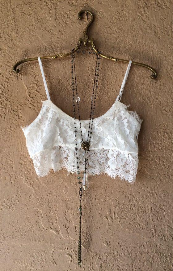 Image of Free People Eyelash Bralette with back zipper...Bohemian Gypsy girl