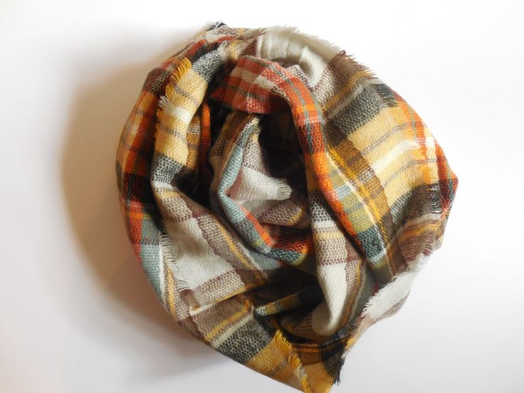 Look by M Sammie Plaid Infinity Scarf Stitch Fix review October