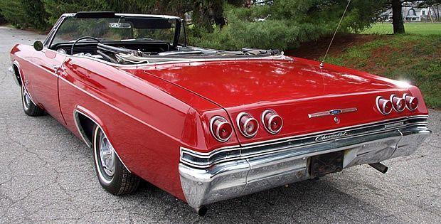 1965 Chevrolet Impala Ss Convertible Rear