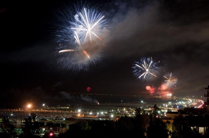 lo spettacolo dei fuochi d'artificio. Fireworks